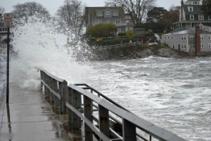 Most Earth scientists agree that future sea levels will rise at a greater pace than during the last 50 years. Coastal communities will suffer the most, as flooding from rising water levels will force millions of people out of their homes. Pictured: flooding in Marblehead, Massachusetts caused by Hurricane Sandy on October 29, 2012. Photo by The Burkes