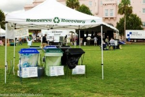One of several recycling centers at the Green Fair. Photo by AccuLabs Charleston