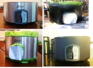 Four easy steps to a chalkboard crock pot